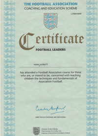 1996 FA Football Leaders